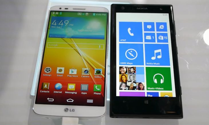 Nokia Lumia 1020 vs. LG G2 in quick visual