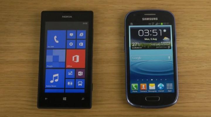 Nokia Lumia 520 vs. Galaxy S2 and S3 Mini