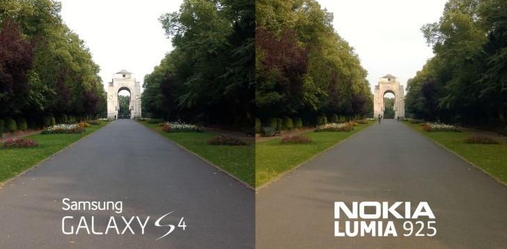 Nokia Lumia 925 camera versus Galaxy S4