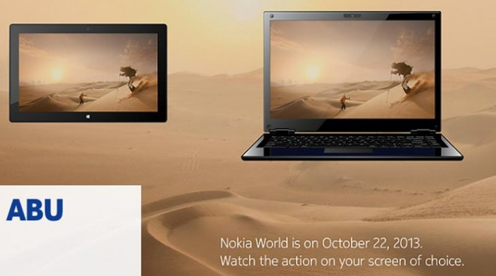 Nokia World 2013 live video coverage on tablet, laptop