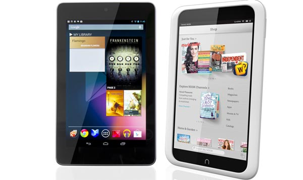 Nexus 7 vs. Nook HD review decided by books