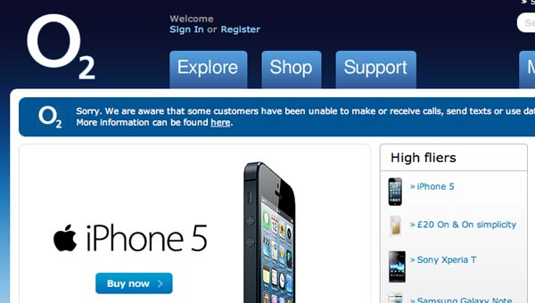 O2 outage compensation after UK Oct problems