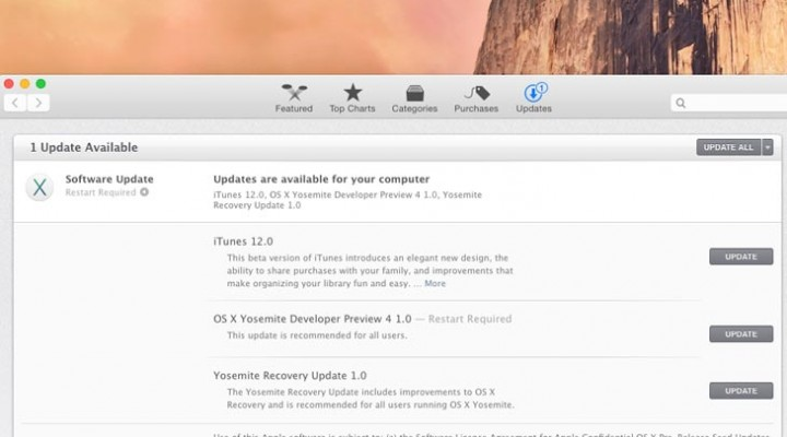 OS X 10.10 Yosemite Dev Preview 4 release notes