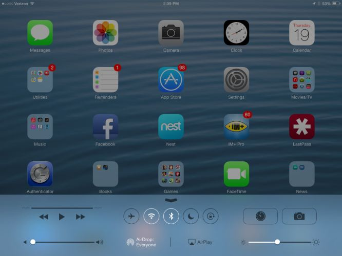 OS X 10.10 Control Center like