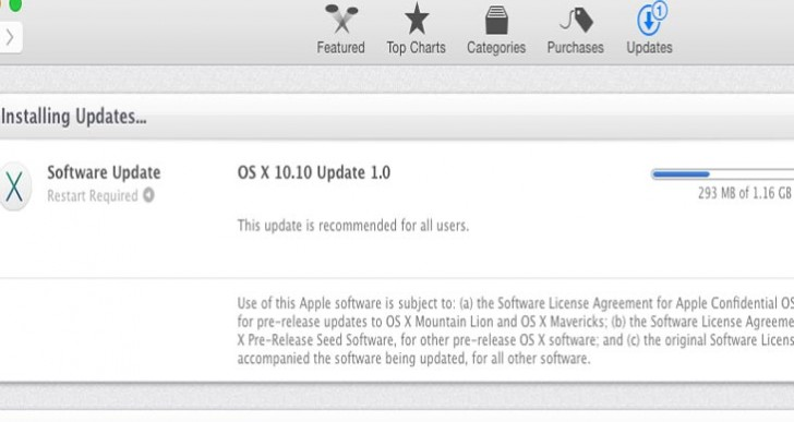 OS X 10.10 update 1.0 is live