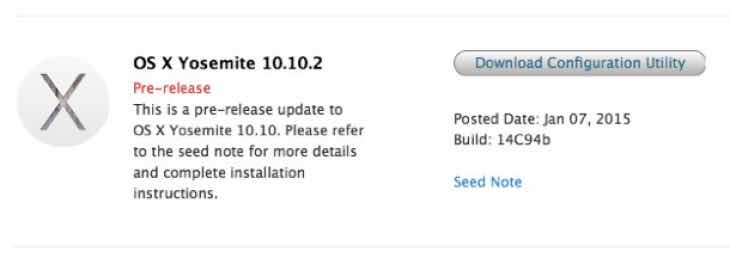 OS X 10.10.2 update nears