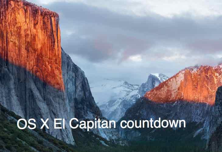 OS X El Capitan countdown