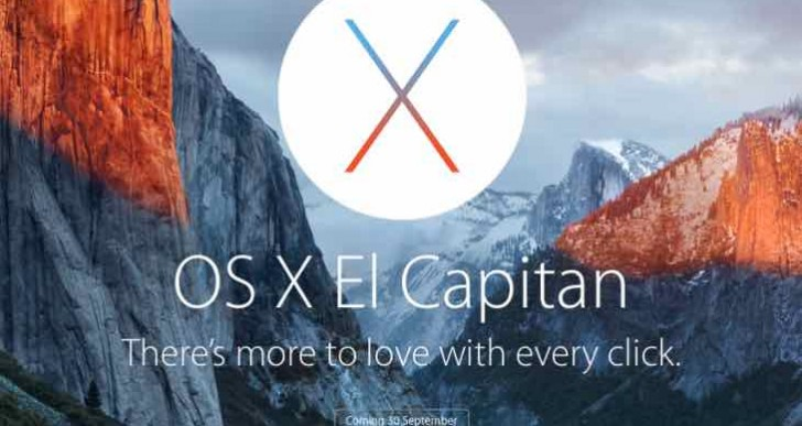 OS X El Capitan countdown to release time