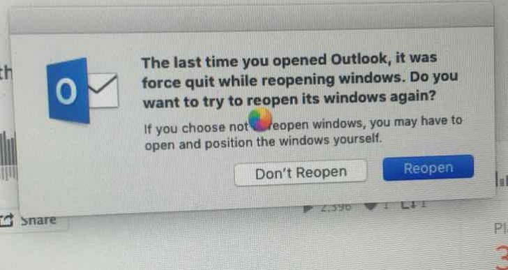OS X El Capitan update with force quit error message