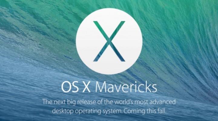 OS X Mavericks buildup to availability like iOS 7