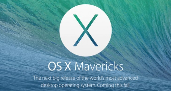 OS X Mavericks buildup to availability like iOS 7