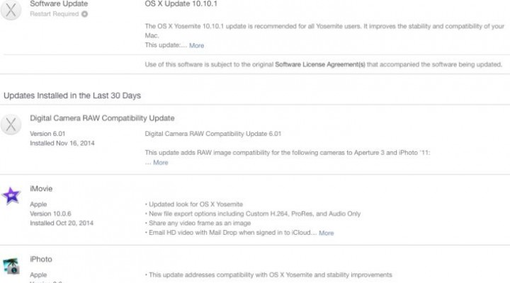 OS X Yosemite 10.10.1 live with list of resolved problems