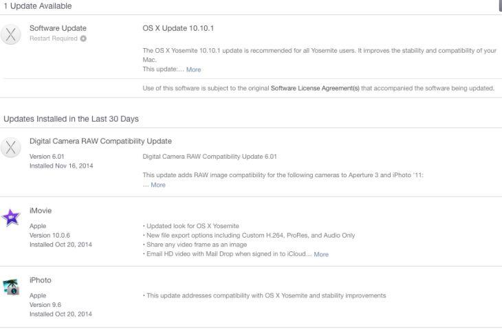 OS X Yosemite 10.10.1 live