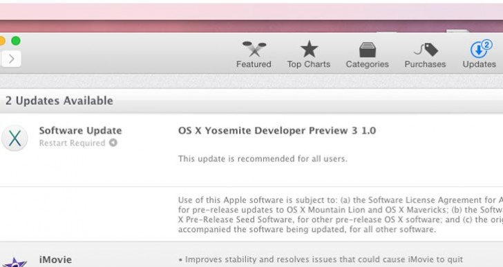 OS X Yosemite Developer Preview 3 fixes issues