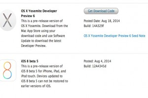 OS X Yosemite Developer Preview 6 release notes