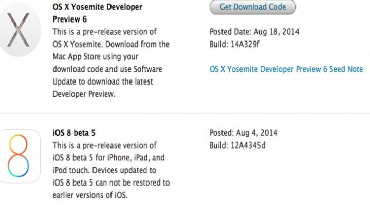 OS X Yosemite Developer Preview 6 release notes