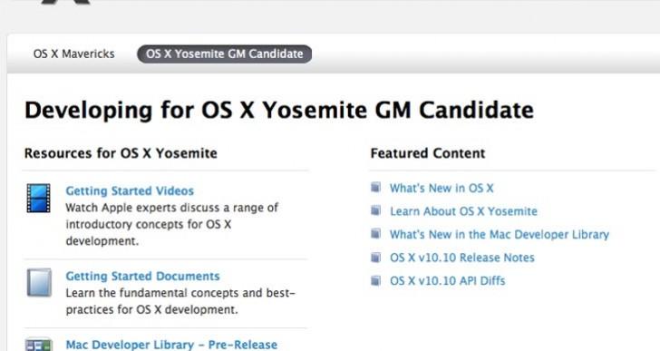 OS X Yosemite GM guarantees Oct release date