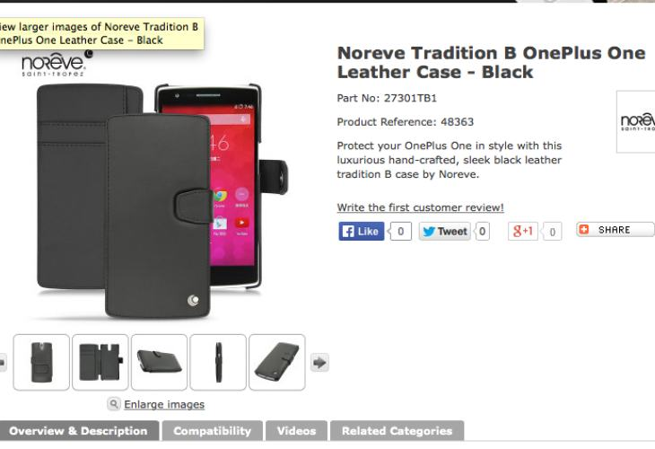 OnePlus One Noreve Tradition B flip case for elagance