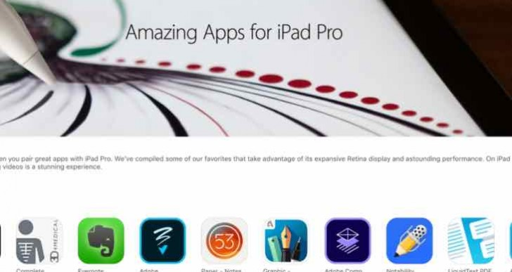 Optimized iPad Pro apps and games emphasized