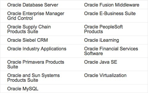 The  October 2013 Oracle critical patch update covers fixes for the following