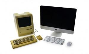 Original Macintosh Vs. new iMac teardown in 2014