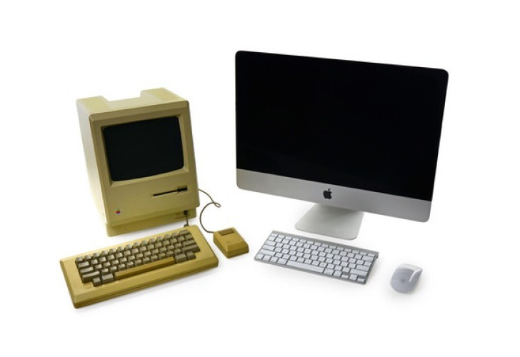 Original Macintosh Vs. new iMac teardown in 2014