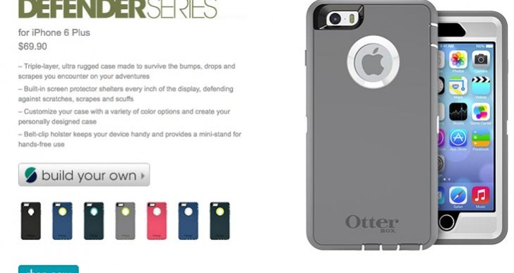 OtterBox iPhone 6 Plus cases differentiated
