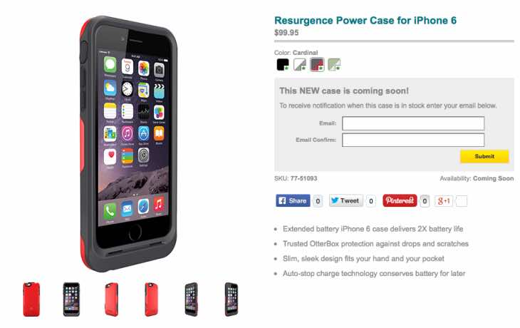 OtterBox iPhone 6 Resurgence Power Case