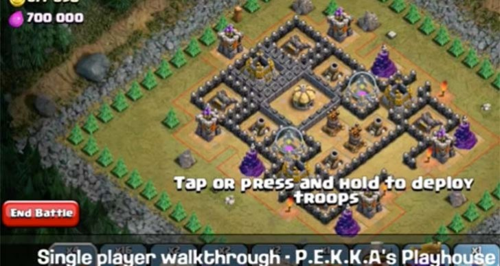 Clash of Clans strategy for P.E.K.K.A's Playhouse