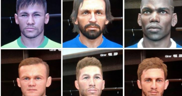 PES 2014 Data Pack 8 DLC faces before PES 2015