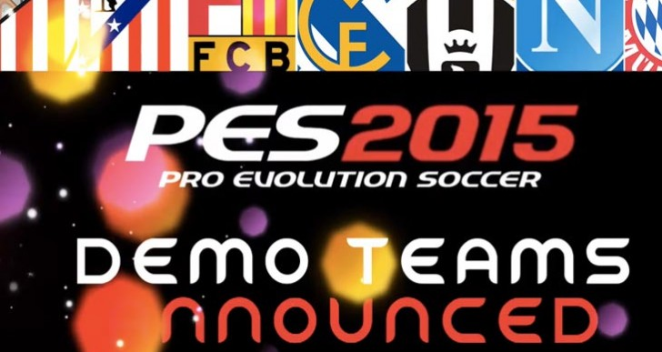 PES 2015 demo teams with FC Barcelona, Bayern