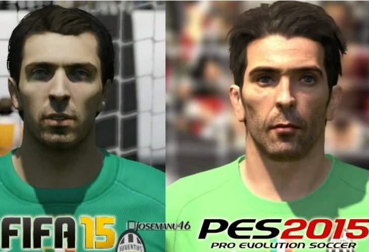 PES 2015 vs FIFA 15 face comparison