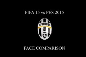 PES 2015 vs FIFA 15 in Juventus face comparison