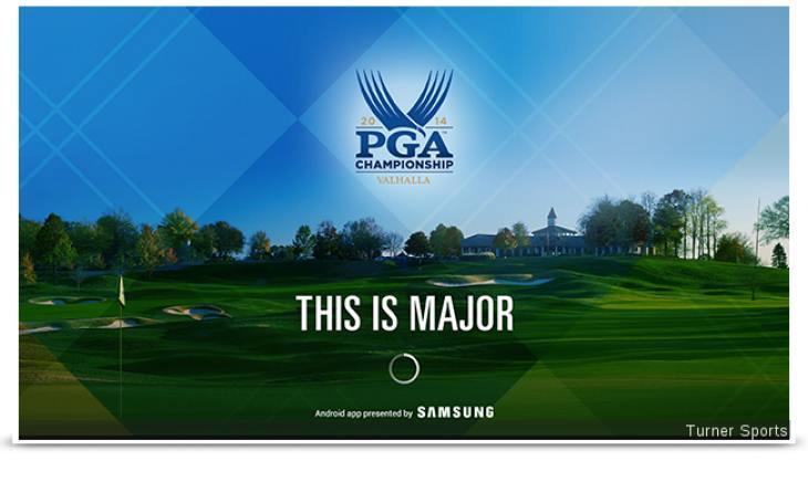 PGA Championship 2014 leaderboard via Samsung TV app