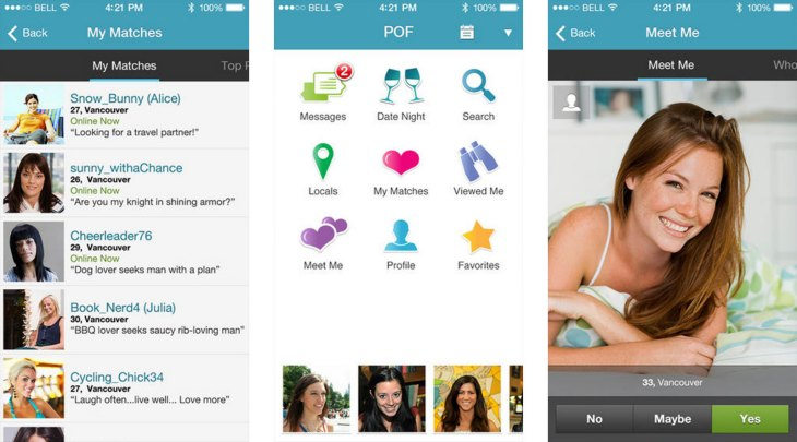 POF – Plenty of Fish app for iOS and Android