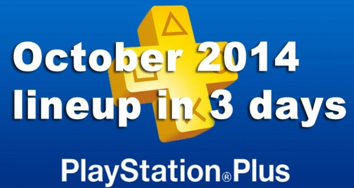PS Plus October 2014 update lineup in 3 days