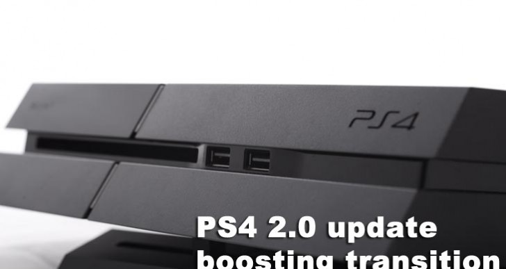 PS4 2.0 update boosting PS3 transition
