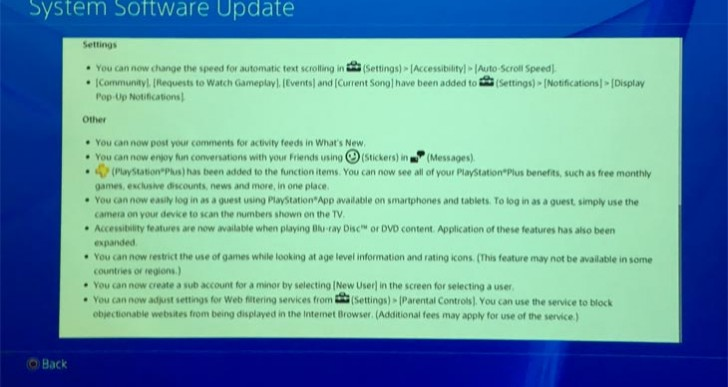 PS4 3.0 firmware update live at 250.3 MB