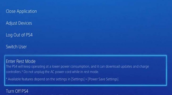 PS4 Rest Mode fix for crashing problems