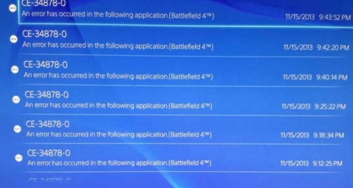 PS4 error ce-34878-0 fix imminent, patience required