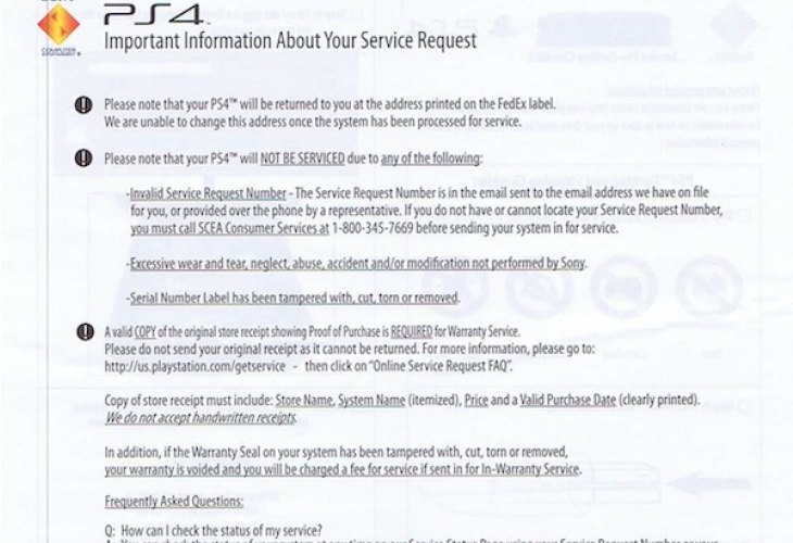 PS4 repair and return turnaround, 10 to 14 days