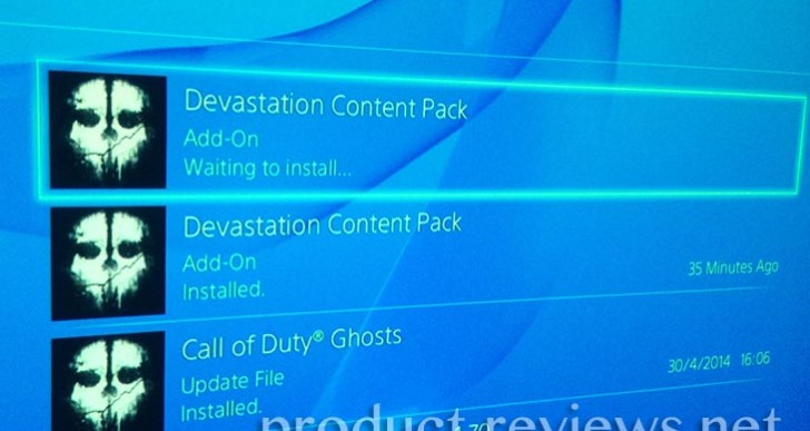 PS4 waiting to install COD DLC issue