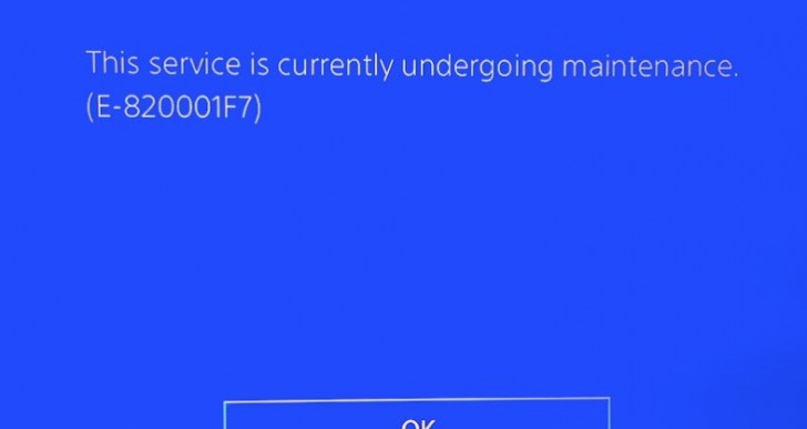 PSN status creates PS4 error E-820001F7