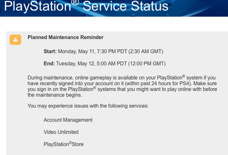 PSN-planned-maintenance-for-May-11