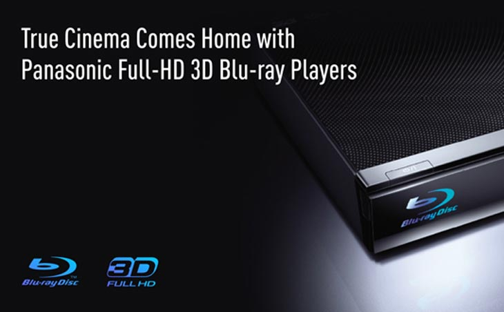 Panasonic 3D Blu-ray player with 2d-to-3d conversion