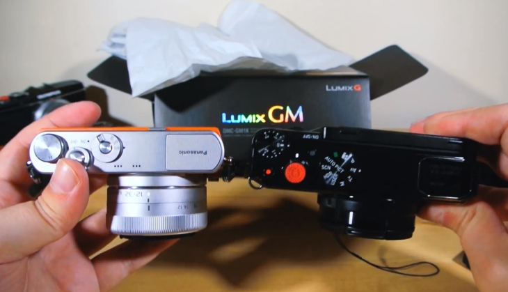 Panasonic Lumix DMC-GM1 size comparison