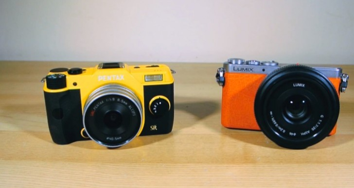 Panasonic Lumix GM1 vs. Pentax Q7 testing review