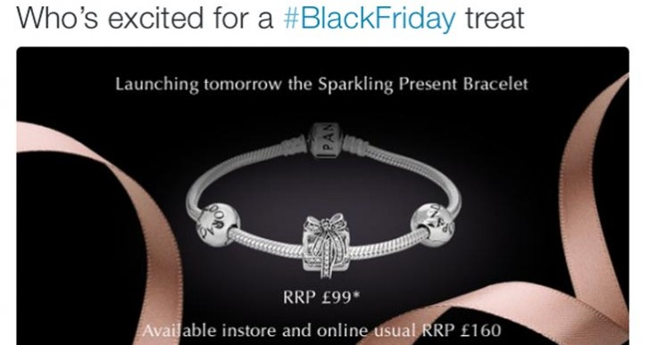 Pandora Friday sale with social tease for bracelet charms