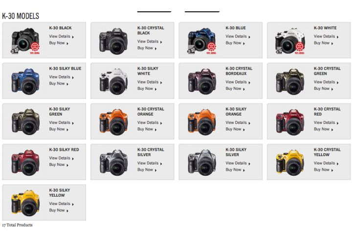 Pentax K-30 DSLR following in Q10 footsteps
