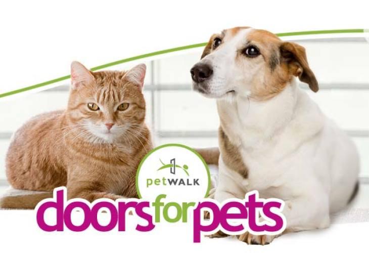 Petwalk pet door with Passive House certification